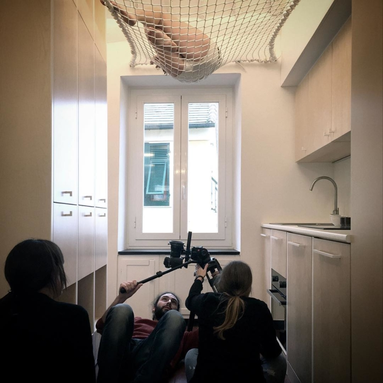 Video shooting in the old house that...
